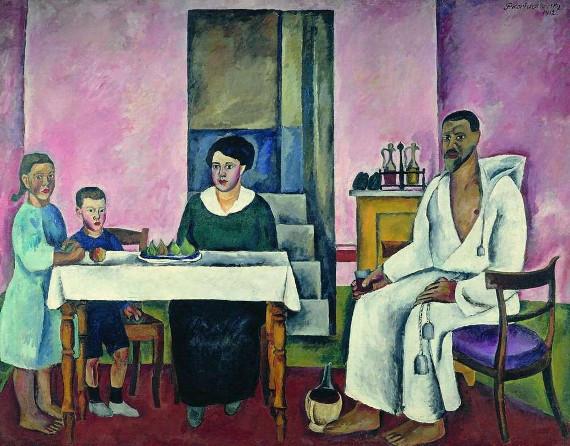 Петр Кончаловский «Семейный портрет» (сиенский)» 1912. Собрание Третьяковской галереи.