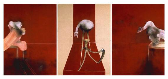 Фрэнсис Бэкон «Три этюда к фигурам у основания распятия» 1944 © Галерея Тейт, Лондон.