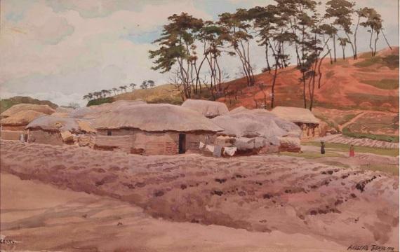 Альберт Бенуа «Сеул» 1919 Вологодская областная картинная галерея