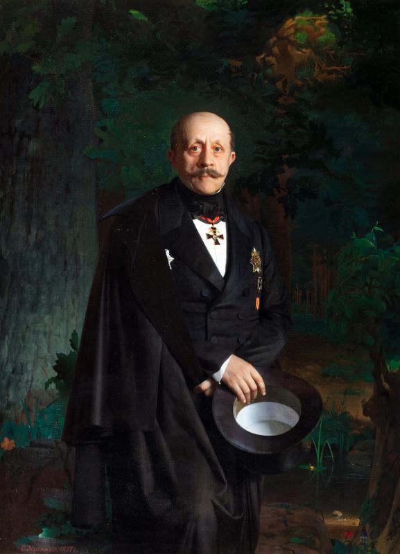"Сергей Зарянко ""Портрет А.Д. Черткова"" 1857"