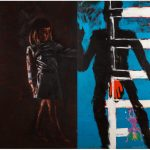 """Комар & Меламид """"Лестница в небо. Диптих. Из серии """"Анархический синтетизм"""" 1985–1986"""