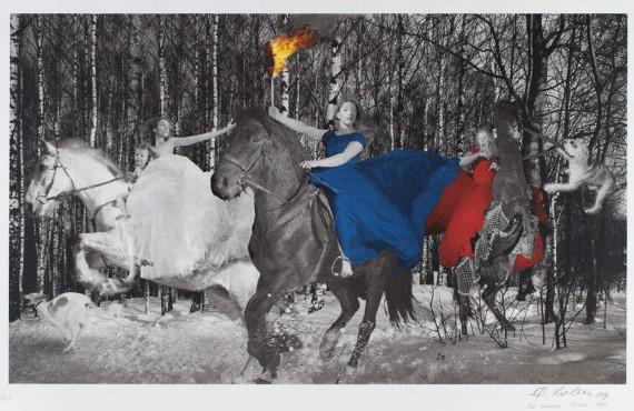 Олег Кулик «Русская тройка» (1999)