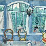 "Марк Шагал ""Вид в сад (Интерьер на даче)"" 1917"