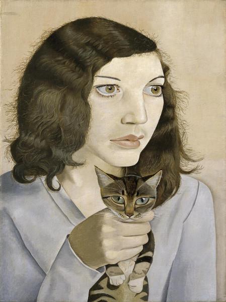 "Люсьен Фрейд ""Девушка с котенком"" 1947 © Tate © The Lucian Freud Archive Bridgeman Images."