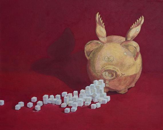 """Выставка """"Ольга Ярутина. Эссе о свинье"""". Галерея """"Файн-Арт"""" в Центре современного искусства Винзавод."""