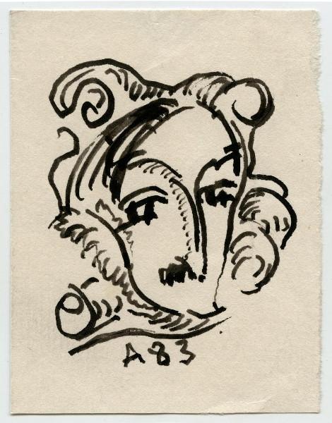 Анатолий Зверев «Гоголь» 1950-е. Собрание Музея AZ.