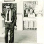 Александр Каменский на выставке Молодая гвардия Страны Советов. Москва. 1978