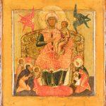 Богоматерь с младенцем на престоле, с избранными святыми. 1660-е – 1680-е годы. Ярославль.