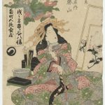 """Эйсэн Кэйсай """"Кацуяма из Дома Окамотоя. Из серии """"Куртизанки всех концов Эдо"""" 1830-е"""