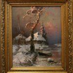 """Ю.Ю. Клевер """"Хутор у замерзшей реки"""" 1898"""