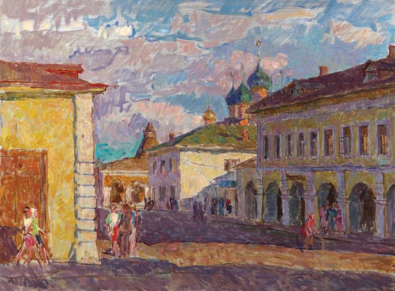 В.Н. Забелин «Улица в Ростове».
