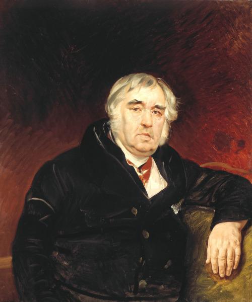 К.П. Брюллов «Портрет И.А. Крылова» 1839 Собрание Государственной Третьяковской галереи.
