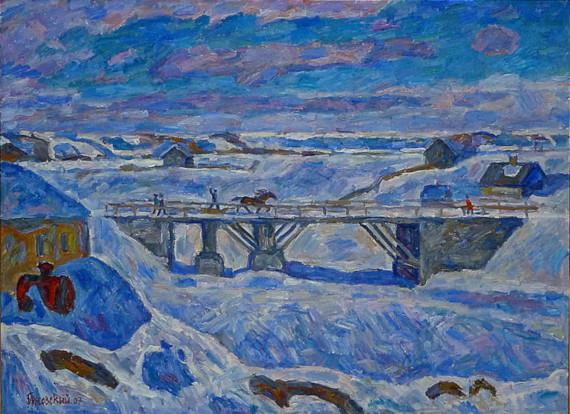 Э.Г. Браговский «Мост. Старая Ладога»