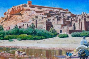 Георгий Елисеев. Марокко и Иордания: Синий, оранжевый, розовый.
