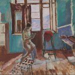 """Константин Истомин """"В комнате (У окна)"""" 1928"""