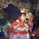 """Константин Сомов """"Арлекин и дама"""" 1921"""