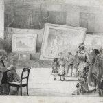 """В.В. Берг """"На выставке (XI выставка ТПХВ)"""" 1883"""