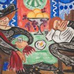 """О.В. Розанова """"В кафе"""" Около 1912"""