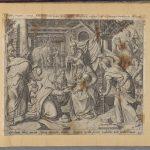 Поклонение волхвов. Ян Саделер I по рисунку Герарда Палудануса ван Гронингена. Библия Пискатора. 1643. Амстердам