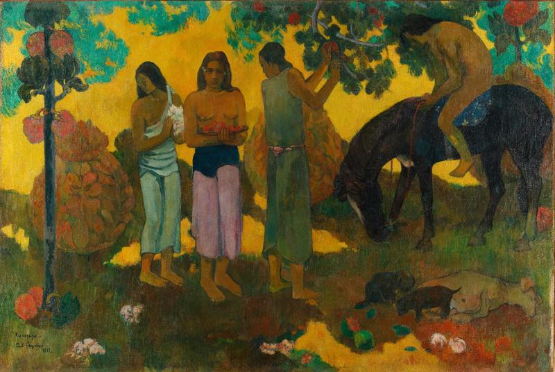 """Поль Гоген """"О, Таити, чудесный край! Сбор плодов"""" 1899"""