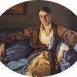 """Константин Сомов """"Портрет М. Г. Лукьянова"""" 1918"""