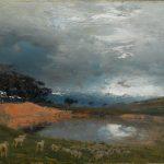 """Иван Похитонов """"Биарриц. Перед грозой. Озеро в Ландах и горелый сосновый лес"""" 1891"""
