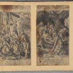 Положение во гроб. Антон Вирикс по рисунку Мартена де Воса. Библия Пискатора. 1643. Амстердам