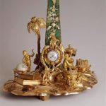 Прибор чернильный с часами. Франция, 1780 г.(?) Принадлежал императрице Екатерине II.