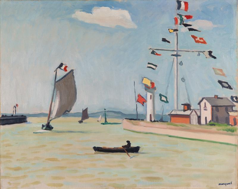 """Альбер Марке """"Порт в Онфлере"""" 1911"""