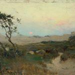 """Иван Похитонов """"Ла-Панн. Заход солнца в дюнах"""" 1895"""