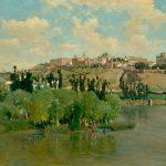 """Аурелиано де Беруэте-и-Морет """"Вид на юг Толедо из Лос Сгарралес"""" 1895"""