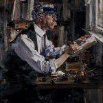 """Николай Фешин """"Портрет гравера У.Д. Уотта"""" 1924"""