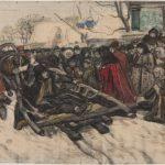 """В.И. Суриков """"Боярыня Морозова. Эскиз одноименной картины"""" 1884-1885"""
