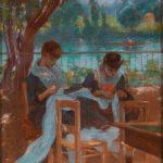 """Адольфо Гийярд """"Портнихи в парке"""" 1884-1885"""