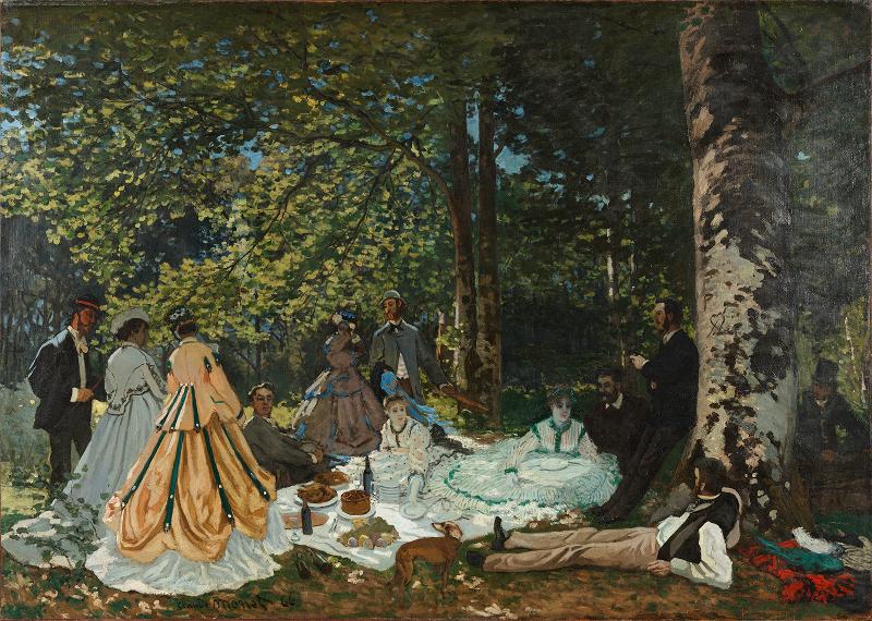 """Клод Моне """"Завтрак на траве"""" 1866"""