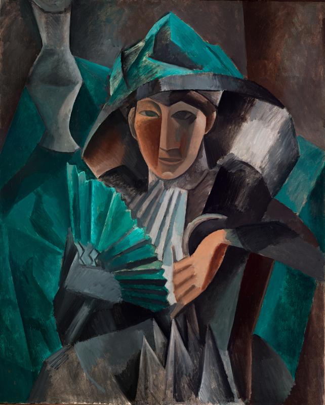 "Пабло Пикассо ""Дама с веером"" 1909"