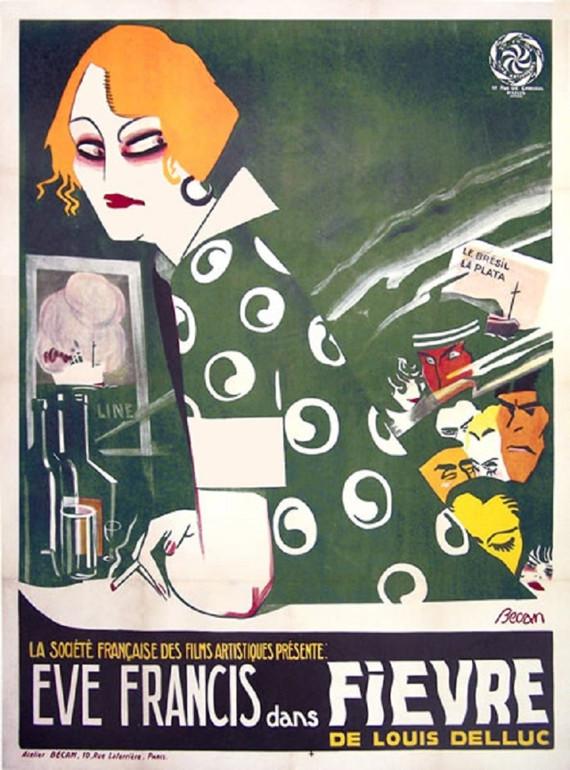 Афиша к фильму «Лихорадка» Режиссёр Луи Деллюк, 1921