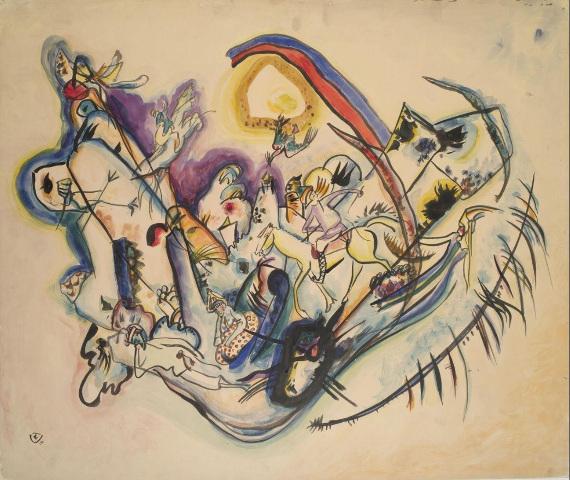 Василий Кандинский «Жар-птица» 1916 Собрание ГМИИ имени А.С. Пушкина.