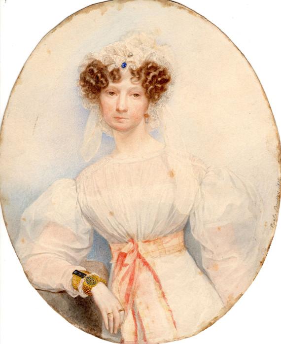 Карл Брюллов «Портрет И. Хоппнер» 1825 Собрание Музея В.А. Тропинина и московских художников его времени.