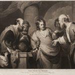 "Ч.Г. Ходжес (по оригиналу Б. Строцци) ""Динарий кесаря"" 1787"