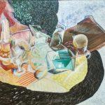 """Д.П. Штеренберг """"Стол с сахарницей (Кубистический фактурный этюд)"""" Конец 1910-х"""