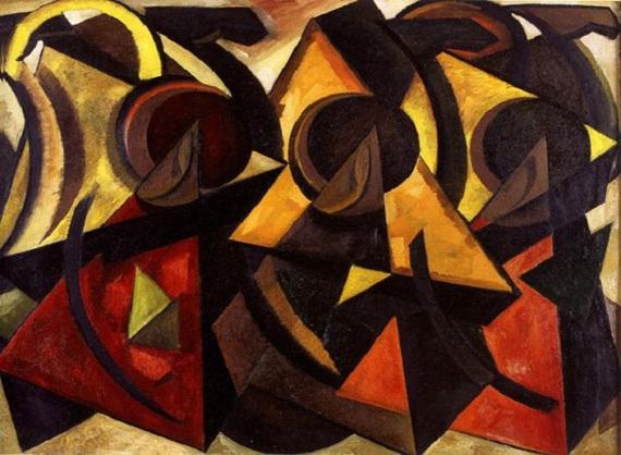 Александр Волков «Караван. Пустыня перед бураном» 1922–1923. Собрание Государственного Музея Востока.