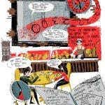 "Бермет Борубаева и Полина Никитина ""Иллюстрации из серии активистского комикса ""Я.Еда"" 2019"