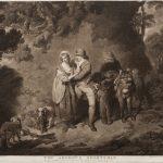 """Ч.Г. Ходжес (по оригиналу Ф. Уитли) """"Влюбленный охотник"""" 1786"""