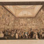 """П.А. Мартини (по оригиналу И.Г. Рамберга) """"Выставка в Королевской Академии художеств в 1787 году"""" 1787"""