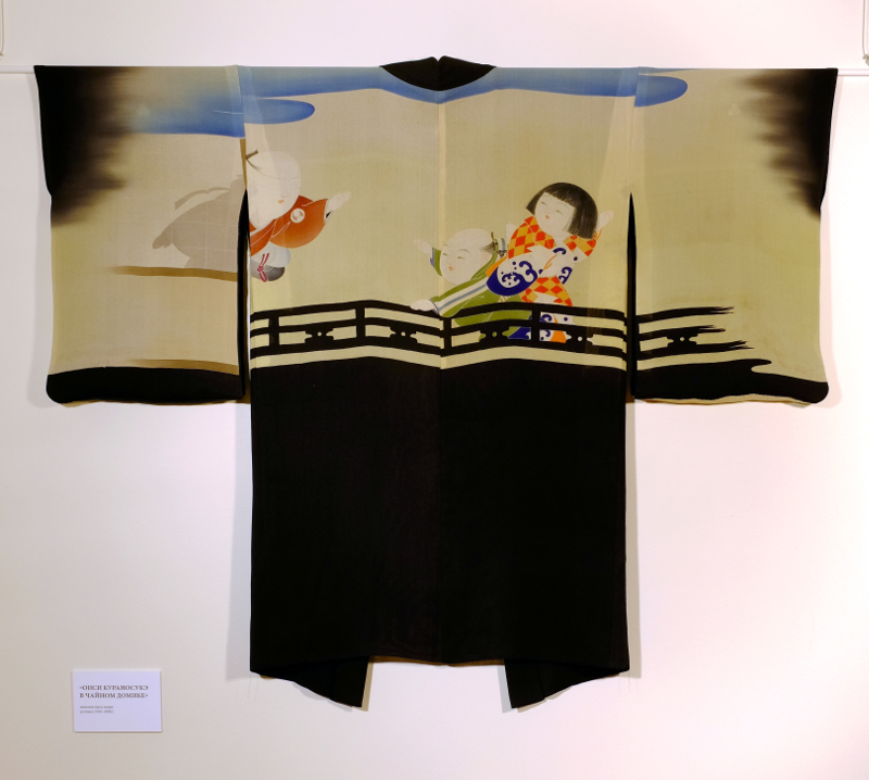 """Мусо-хаори """"Тюсингура"""" – летнее хаори с рисунком на подкладке, который виден на просвет"""
