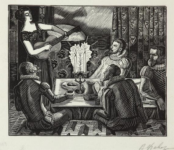 В.А. Фаворский «Ужин у Лауры» 1959–1961