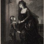 """Дж. Колдуолл (по оригиналу У. Гамильтона) """"Актриса Сара Сиддонс с сыном в трагедии """"Изабелла"""" 1785"""