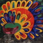 "Н.С. Гончарова ""Павлин под ярким солнцем (стиль египетский)"" 1911"