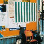 """Даниель Бюрен """"Дикое афиширование"""" Фотография Бернарда Бойера, 1968"""